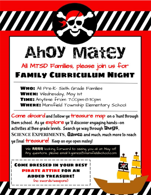 Curriculum Night - May 1st