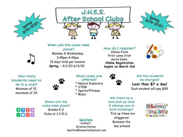 Spring After School Clubs